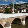 bridge & minaret by River Miljacka