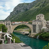 Stari Most restored 16th-century bridge at Mostar destroyed by Croatian militia