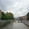 symbolic dove over Latin Bridge Sarajevo near Princip assassination of Franz Ferdinand