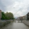 symbolic dove over Latin Bridge Sarajevo near Princip assassination of Franz Ferdinand