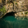 Buna River flowing out of cave at Blagaj Tekke