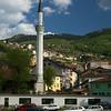 nice minaret River Miljacka Sarajevo