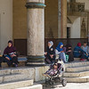 women outside Sarajevo mosque