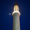 Sarajevo minaret at night