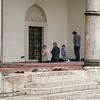 men praying at Sarajevo mosque