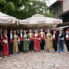 Bosnian dancers posing