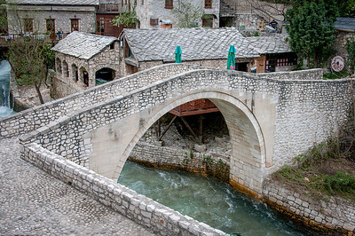 The stone arch bridge in Mostar, Bosnia and Herzegovina