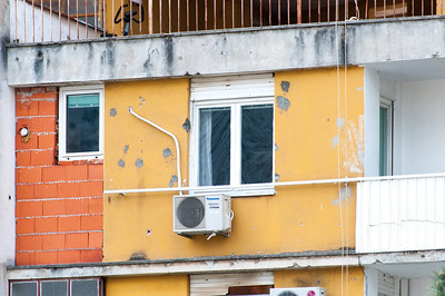 Infrastructure with AC spotted in Mostar, Bosnia and Herzegovina
