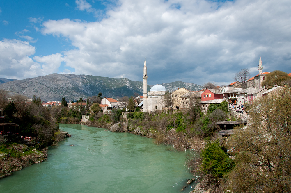 The City of Mostar in Bosnia and Herzegovina