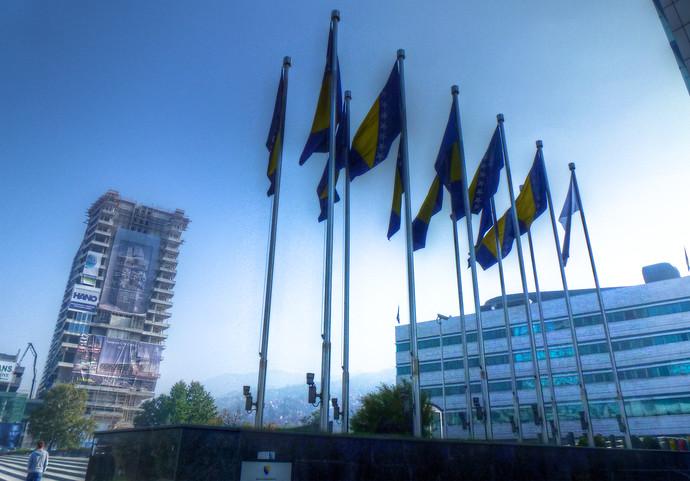sarajevo bosinia and herzegovina flag