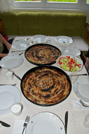 burek with beef and onion