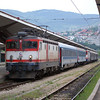 ZFBH 25kV ac electric locomotive 441-904 at Sarajevo with the daily service to Budapest on 10th June 2012.