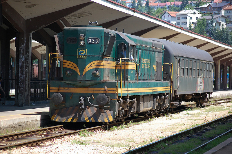 ZFBH 661 323 shunting at Sarajevo on the 8th June 2012.