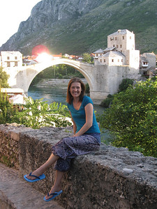 Sun Shining on Stari Most Bridge