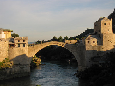 Stari Most at Sunset