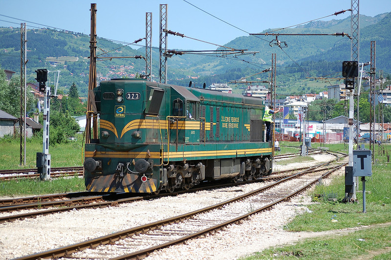 ZFBH 661 323 at Sarajevo on the 8th June 2012.