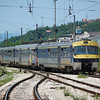A class 415 EMU leaving Sarajevo on the 9th June 2012.