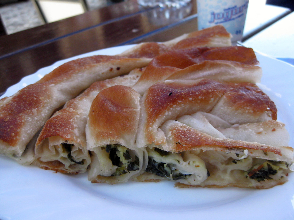 spinach and cheese burek in Bosnia