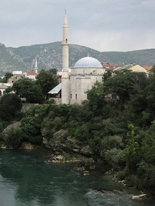 A Mosque on the Neretva River, Bosnia
