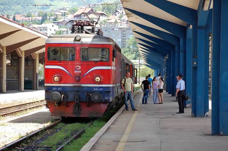 441-441 at the head of the afternoon service to Doboj at Sarajevo on the 8th June 2012.
