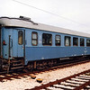 Bosnian 2nd class car 50 50 20-05 402-7 at Ploce, Croatia, on train 390 to Sarajevo. This is a former Swedish 2nd class car.