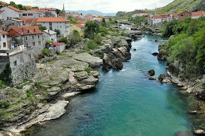 La Neretva à Mostar - Mocтap