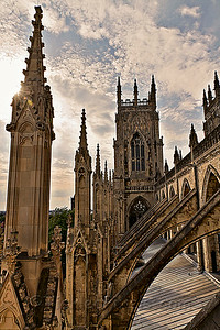 The Flying Buttresses Supporting the Clerestory
