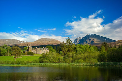 Ben Nevis backdropping Inverlochy Castle