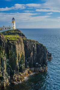 cliffs with Niest Lighthouse