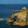 rock arch and Longships Light Land's End