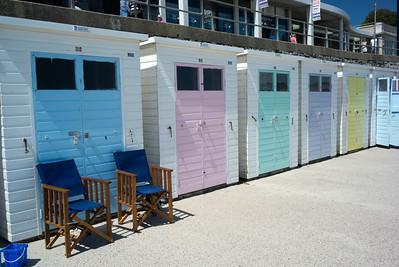 beach cabanas Lyme Regis