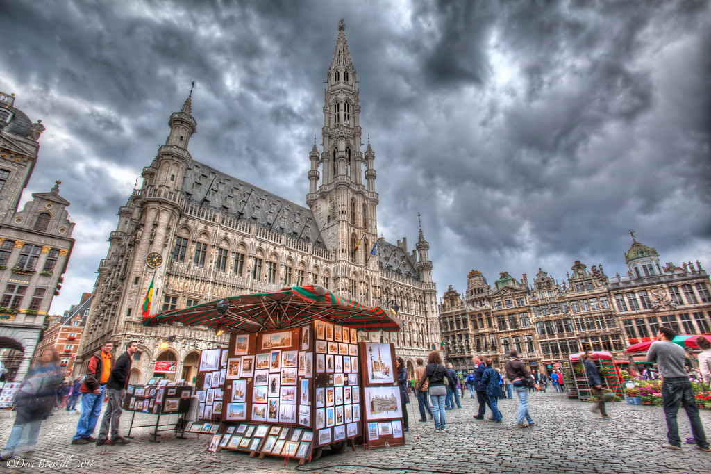 The beautiful square in Brussels