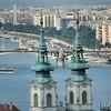 Le Danube et les clochers de l'église Sainte-Anne