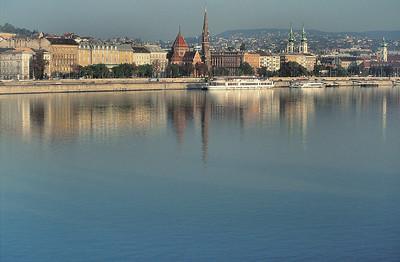 Danube et la vue sur Buda