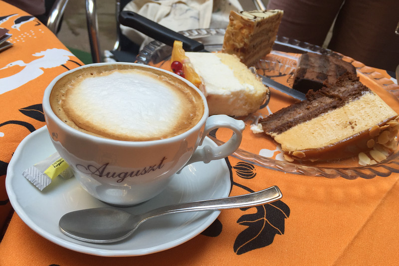 Hungarian sweets and coffee at Cafe Auguszt, Budapest