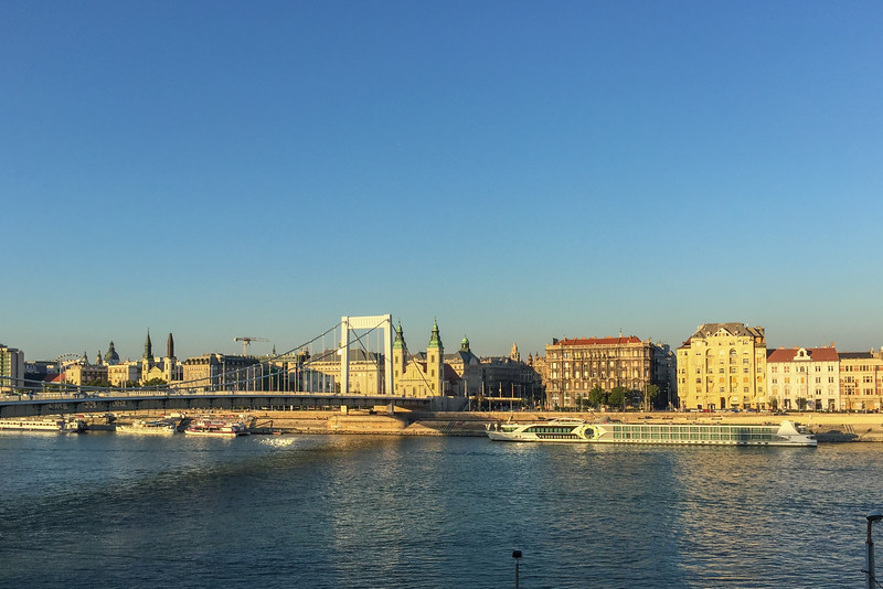 Sunset over the Danube River | Rudas Baths in Budapest, Hungary