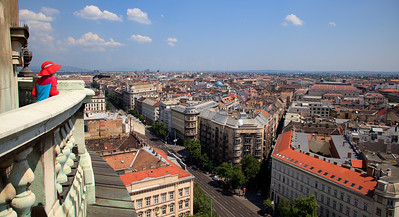 Budapest as seen from top of St. Istvan's Basilica