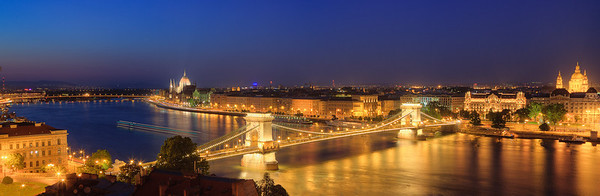 Chain Bridge as seen from the Royal Palace, Budapest