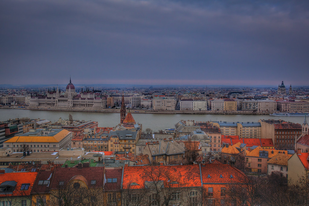 Castle hill view of Budapest
