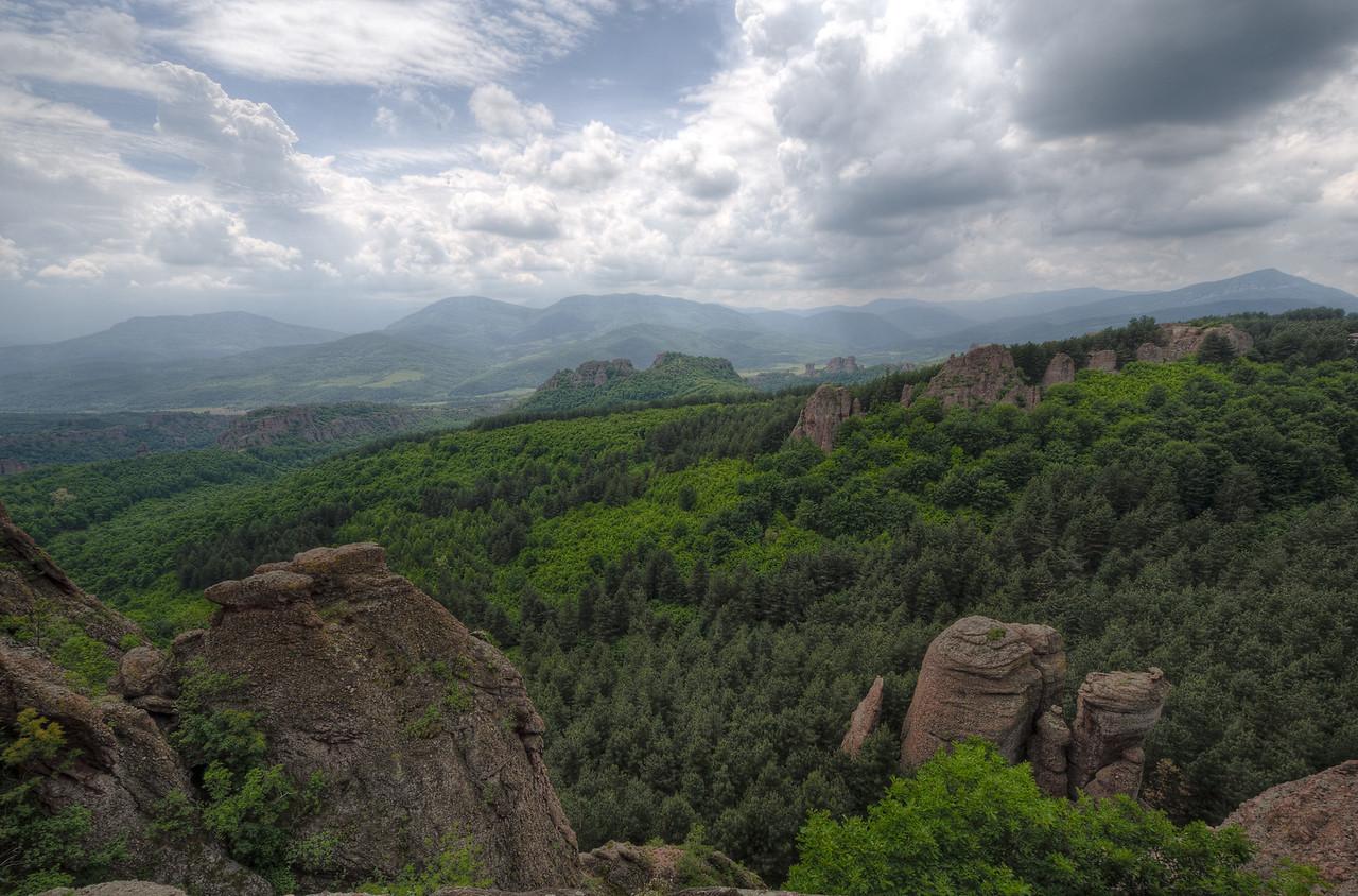 Overlooking view of forest canopy in Belogradchik, Bulgaria