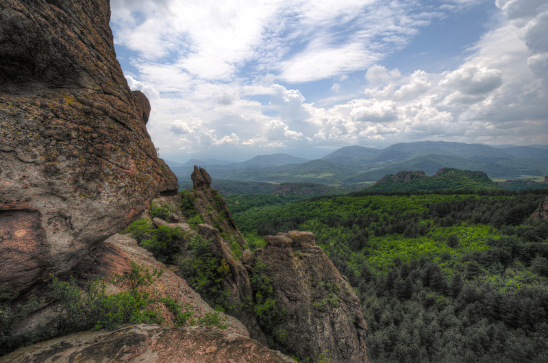 View of the canopy from atop the cliff -Belogradchik, Bulgaria