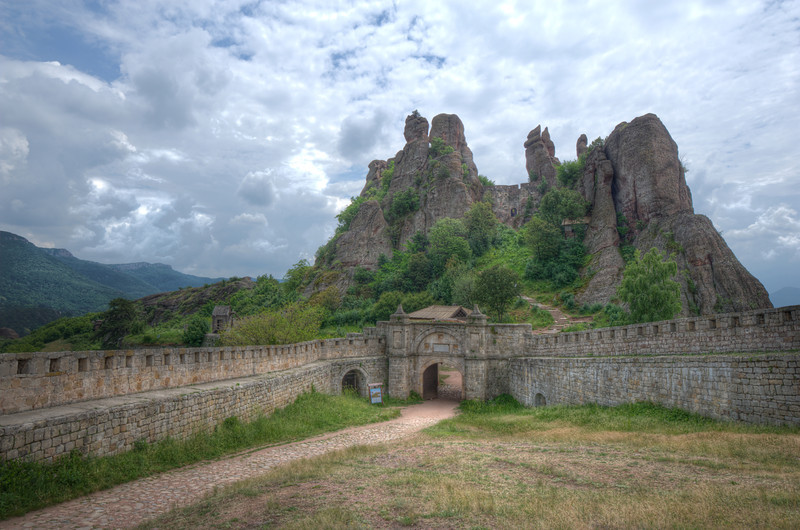 Walled fortress leading to Belogradchik Cliffs in Belogradchik, Bulgaria