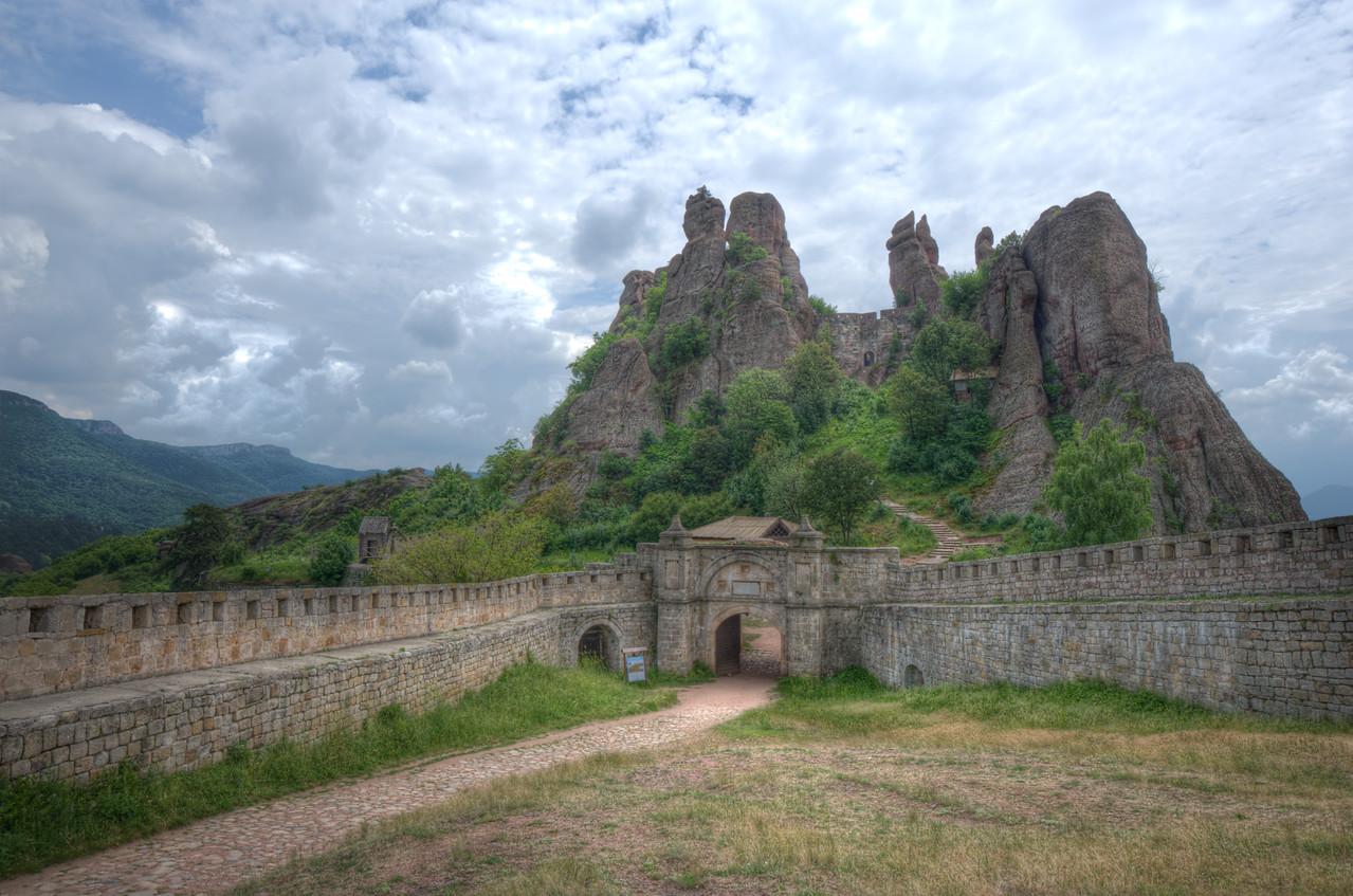 Walled fortress leading to Belogradchik Cliffs in Belogradchik, Bulgaria