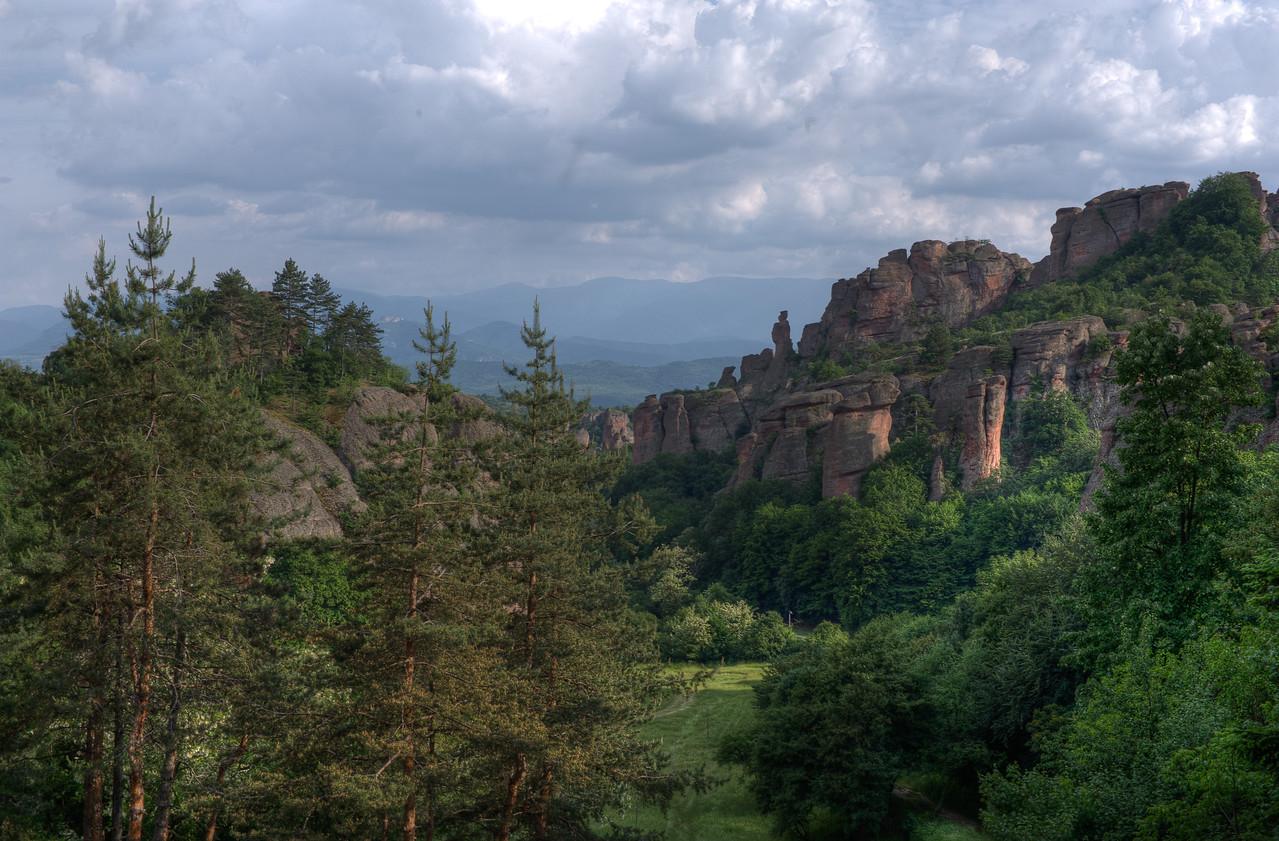 The famed red rock cliffs at Belogradchik Cliffs in Belogradchik, Bulgaria