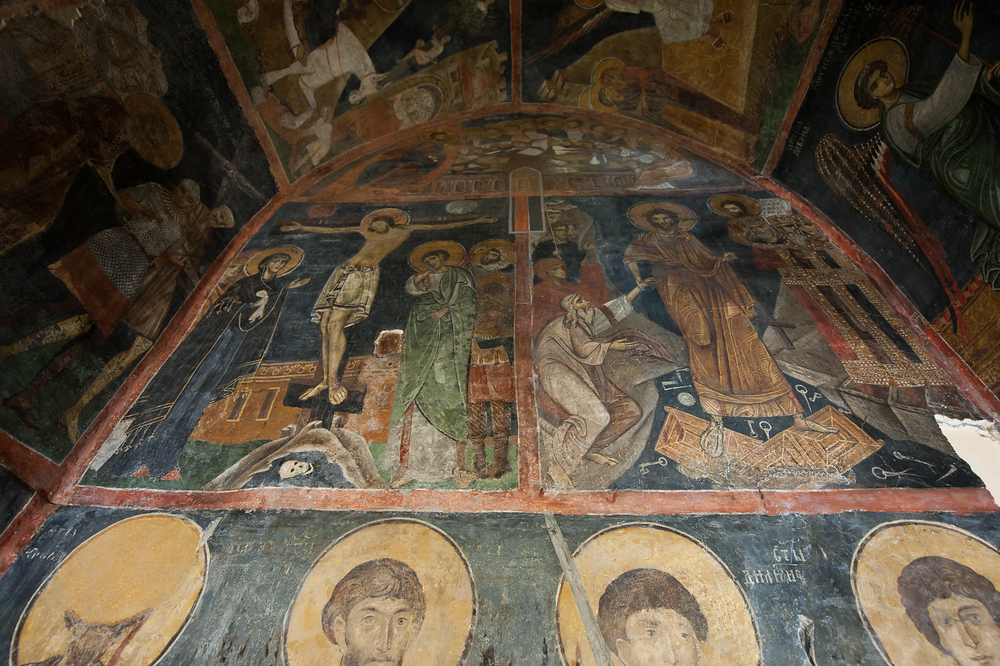 Mural inside the Boyana Church in Sophia, Bulgaria