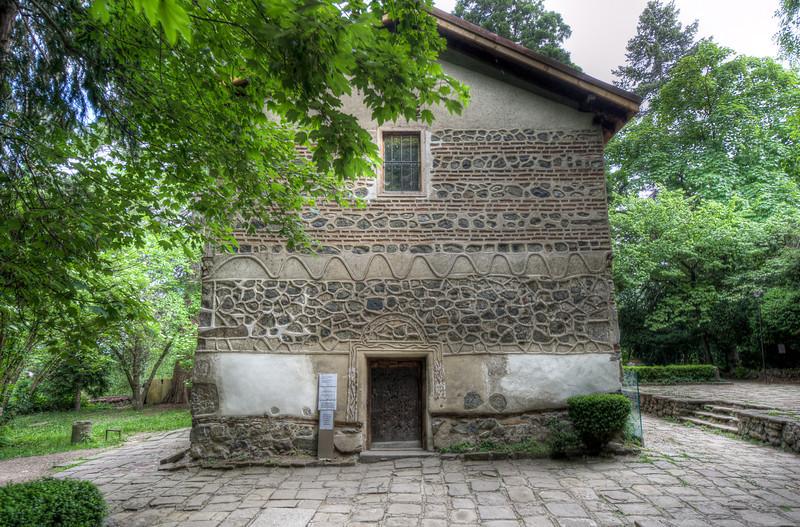 Back doorway in Boyana Church - Sofia, Bulgaria