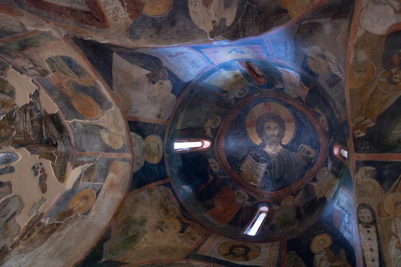 Interior of a dome in Boyana Church - Sofia, Bulgaria