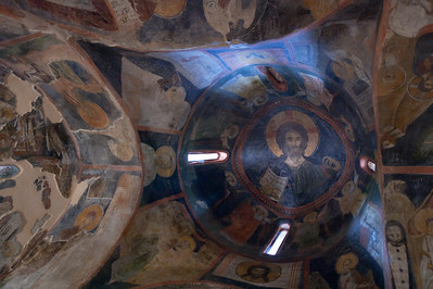 Interior of a dome in Boyana Church - Sofia, Bulgaria