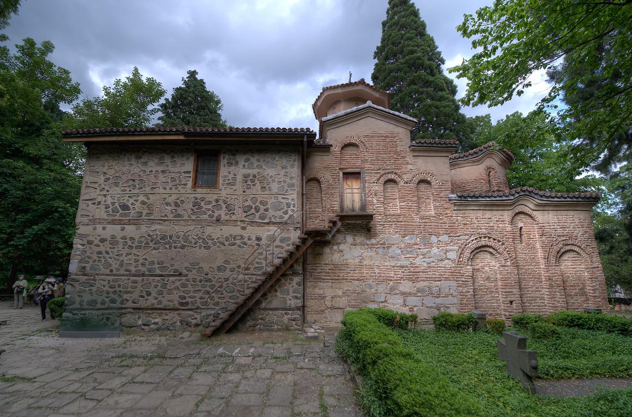Profile at the back of Boyana Church - Sofia, Bulgaria