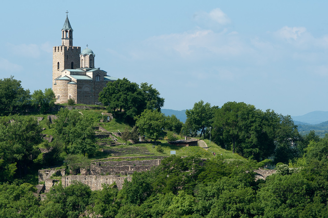 The Patriarchal Cathedral of the Holy Ascension of God atop the Tsarevets Hills in Veliko Tarnovo, Bulgaria